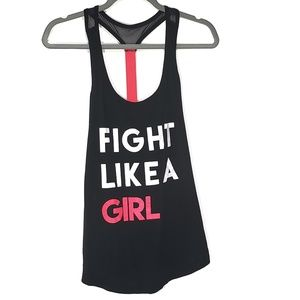 Torrid Active Fight Like A Girl T-back Tank, Sz 0